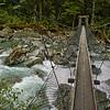Swing bridge over the Routeburn River.