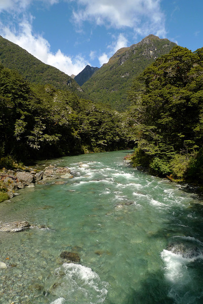 On our first full day we did a walk up the Routeburn Track as far as the flats where we had lunch. This is the Routeburn River near the start of the track.
