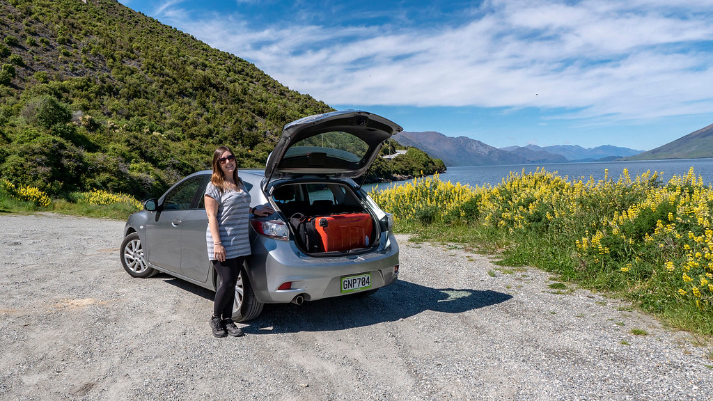 Rent a car in New Zealand: Make sure you have enough room in the trunk for your luggage