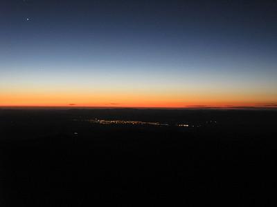 Sunrise over Masterton