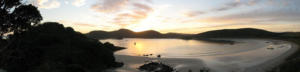 Sunrise over Matai Bay (Kari Kari Peninsula).