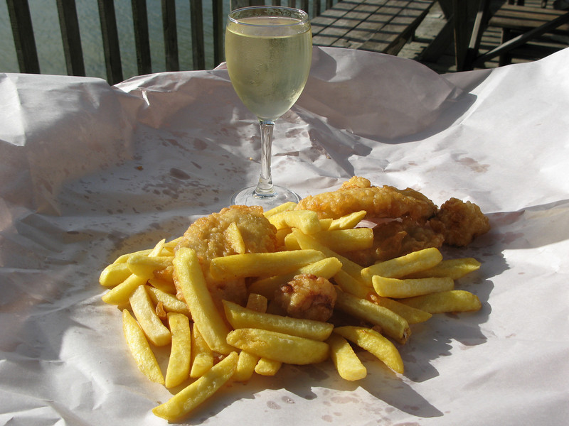 Fish, Scallops, Chips & Wine!