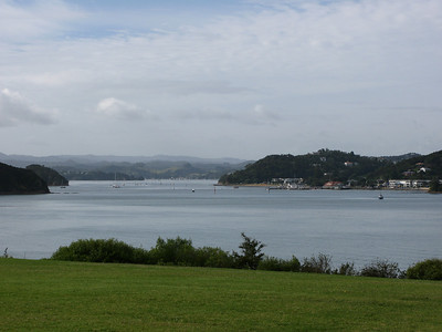 View from Waitangi Treaty Grounds to Paihia.