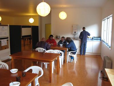 Men's dining area