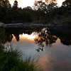 Evening at the trout pool near the motor camp.