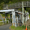 The old rail/road bridge at the start of the Karangahake Gorge. The trains went on top of the bridge and this has now been converted to part of the Karangahake Gorge Walkway.