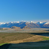 Rakaia River with the Rugged Range and Double Hill.