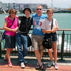 Robyn, Jay, Tos and Holly at the Viaduct Basin in Auckland.