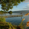 Tos, fishing at Stony Point on Lake Tarawera.