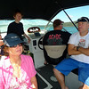 Holly, Robyn, Jay, David and Tos out on David's boat.