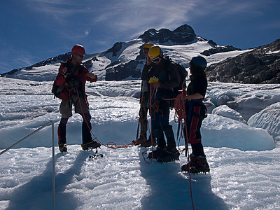 Mass balance is measured by determining the amount of snow accumulated during winter, and later measuring the amount of snow and ice removed by melting in the summer. The difference between these two parameters is the mass balance. If the amount of snow accumulated during the winter is larger than the amount of melted snow and ice during the summer, the mass balance is positive and the glacier has increased in volume. On the other hand, if the melting of snow and ice during the summer is larger than the supply of snow in the winter, the mass balance is negative and the glacier volume decreases. Mass balance is reported in meters of water equivalent. This represents the average thickness gained (positive balance) or lost (negative balance) from the glacier during that particular year.