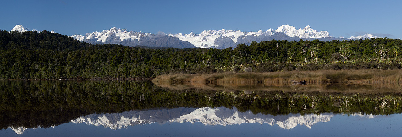3 Mile Lagoon with Southern Alps reflected