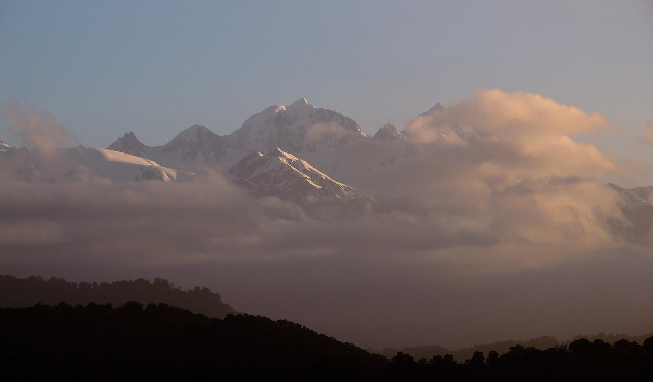 Southern Alps from 3 mile lagoon near Okarito