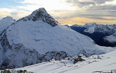 Mount Belle (?) viewed from near Crosscut Hut.