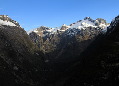 Cleddau Valley - valley connecting Milford Sound with the Homer Tunnel.
