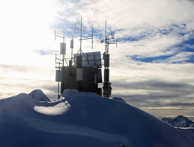 Automatic Weather Station on the summit of Consolation Peak (1759m amsl).