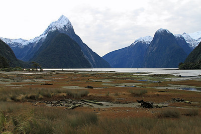 Mitre Peak and Milford Sound.