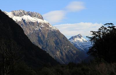 Mountains along the Arthur River Valley, Milford Sound.