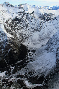 Milford Road and the eastern Portal of Homer Tunnel at the head of the Hollyford Valley.