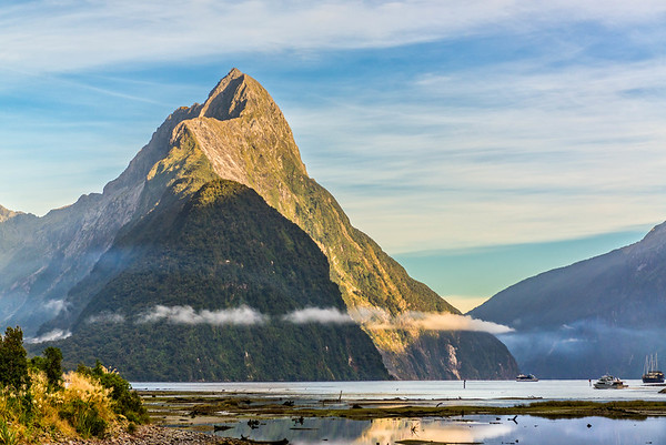 Mitre Peak  guards the entrance to Milford Sound.
