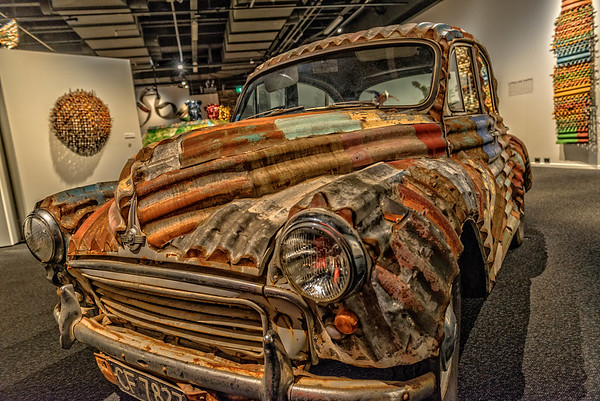 Corrugated car, Christchurch Mseum