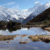 The Red Tarns with Mt. Cook behind.