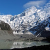 Mueller Glacier and Mt. Sefton near the start of the Hooker Valley track.