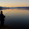 Fishing Lake Tekapo