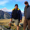 Tos and Russell on the Sealy Tarns track. The views are spectacular.