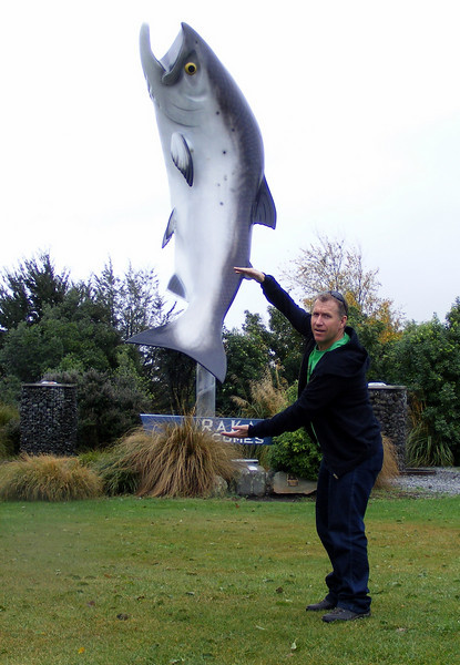 Tos visualising catching the big one at Rakaia.