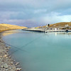 Tos fishing near the Salmon farm on the Tekapo-Pukaki Canal.
