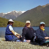 Robyn, Russell and Heather on the Lake Rotoiti track.