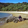 Russell at Te Pukatea Bay in Able Tasman N.P. we had the water taxi drop us off and walked back to Marahau.