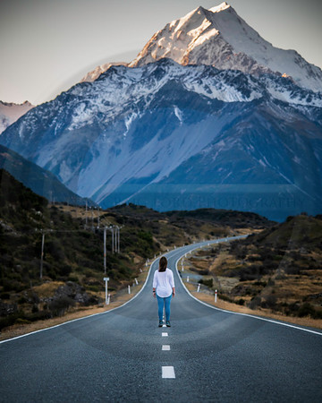 Road to Mt Cook Portrait