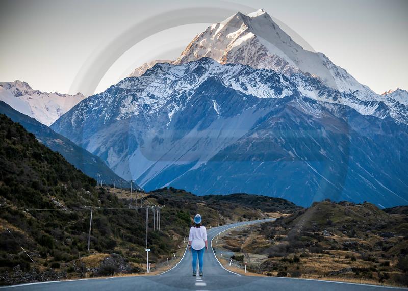 Road to Mt Cook Landscape
