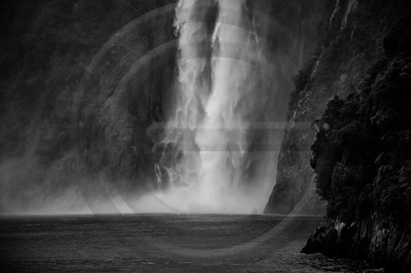 Milford Waterfall Black & White