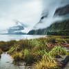 Milford Sound Midday Mist Portrait