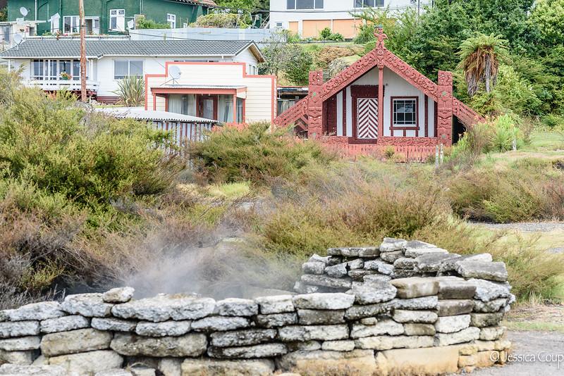 Smells of Sulfur in the Maori Village