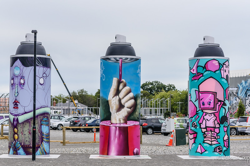 Giant Spray Cans