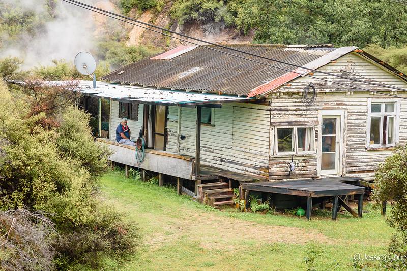 Resident in the Maori Village