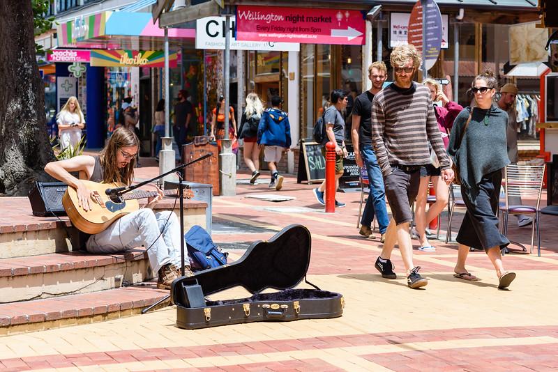 Playing on Cuba Street