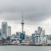 Harbor View of Auckland Skyline