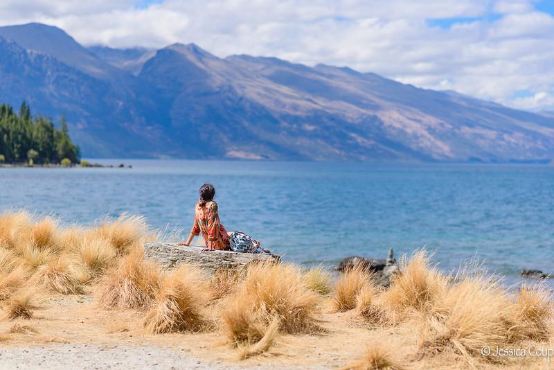 Relaxing by Lake Wakatipu