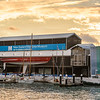 Sunset at the New Zealand Maritime Museum
