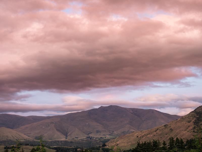 Brooding Dusk Sky over Landscape, Frankton NZ