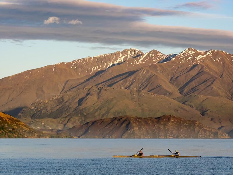 Early Morning Kayaking on Lake Wanaka