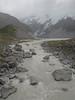 Muddy Tasman River on a Gray, Rainy Day, Mt Cook  NP