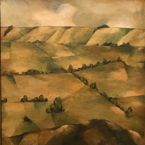 2018-03-06 - 35 Christchurch NZ art museum Caterbury Plains by Colin McCahon