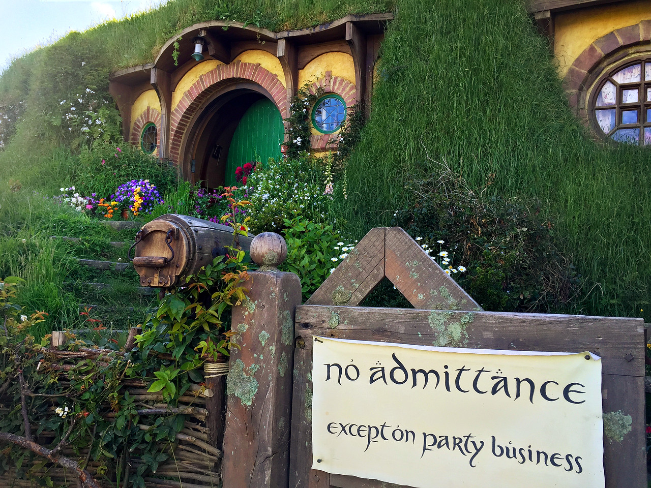 Bag End, home of Bilbo Baggins.