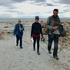 2018-02-28 - 02 Rosemarie Oliver and hitchikers Becky and Time at Hasst Beach NZ